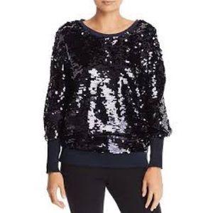 NWT Joie || Navy Sequin Sweatshirt Small